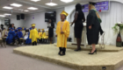 little girl on her graduation